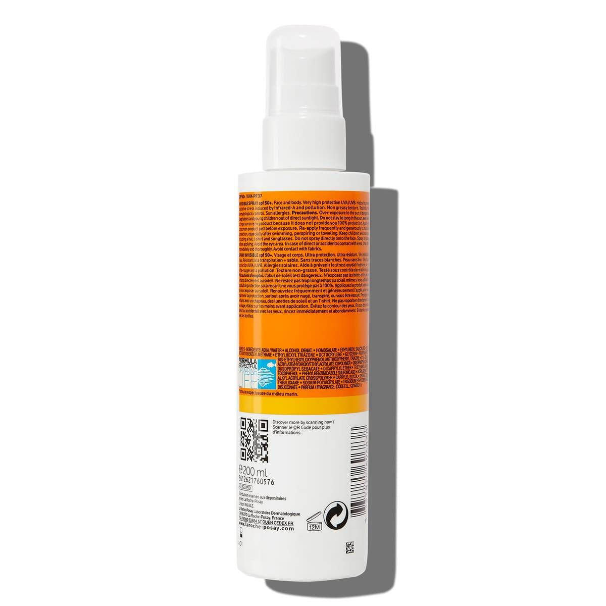 ANTHELIOS SPRAY INVISIBLE SPF50 200ML BSS