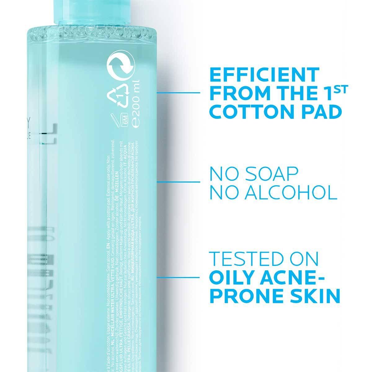 La Roche Posay ProduktSide Akne Effaclar Micellar Water Ultra 200ml 34