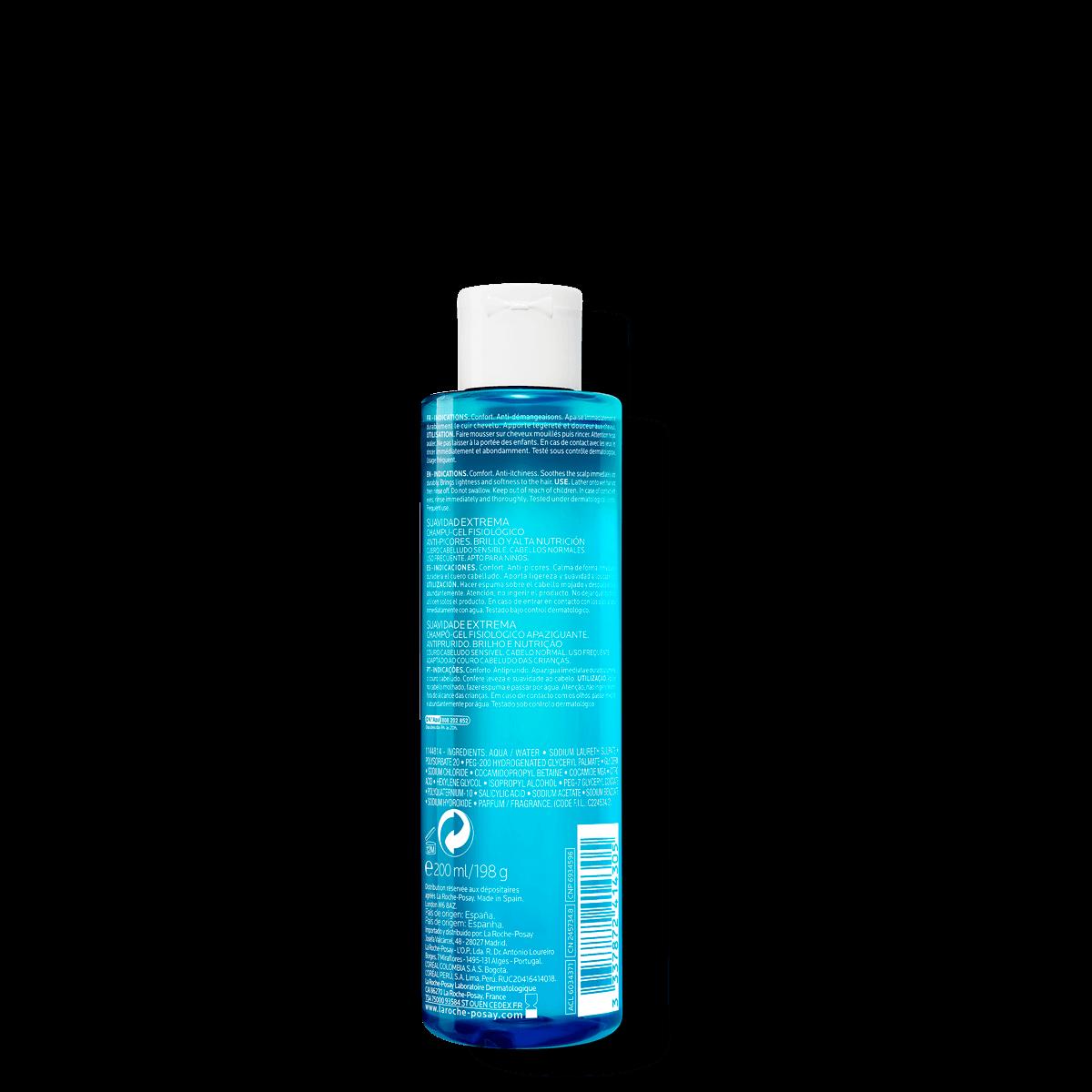 La Roche Posay ProduktSide Kerium Extra Gentle Gel Shampoo 200ml 33378