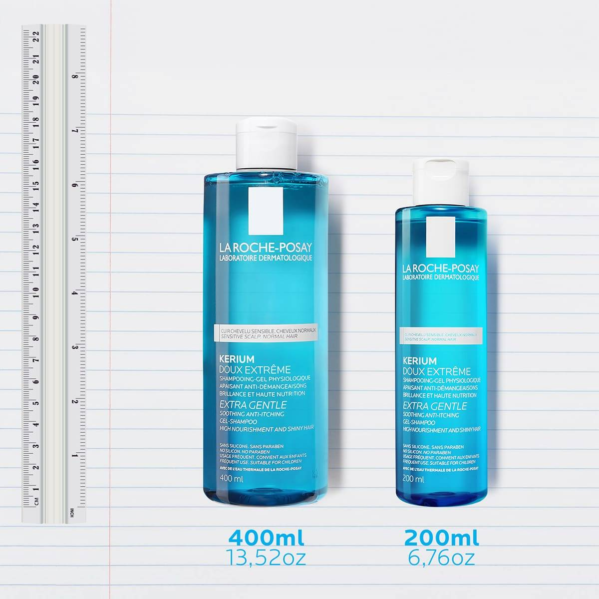 La Roche Posay ProduktSide Kerium Extra Gentle Gel Shampoo Family 3337