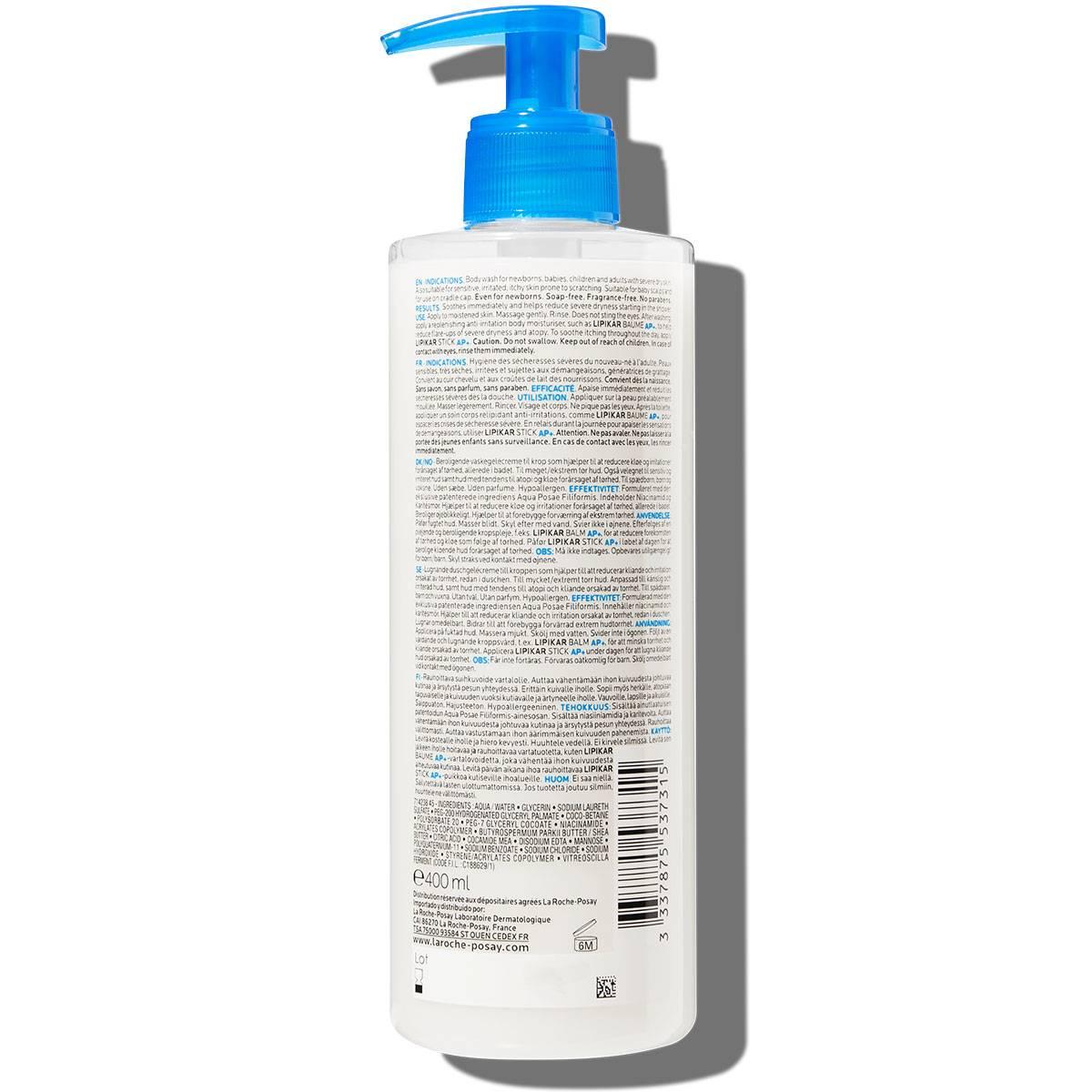 La Roche Posay ProduktSide Eksem Lipikar Syndet AP 400ml 333787553731